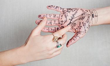 explaining palm reading chart